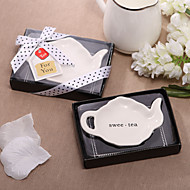 Dejlig Teapot Shaped Ceramic Dish Favor