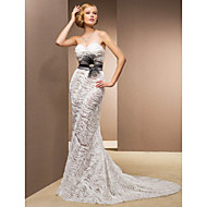 Lanting Bride® Trumpet / Mermaid Plus Sizes / Petite Wedding Dress - Classic & Timeless / Glamorous & DramaticVintage Inspired / Wedding