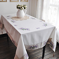Violet Mélange Poly/Coton Rectangulaire Nappes de table