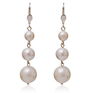 Hoop Earrings Women's Alloy Earring Pearl
