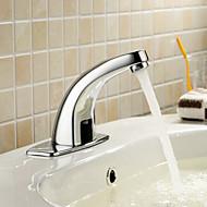 massiv messing badeværelse sink Blandingsbatteri med automatisk sensor (kold)
