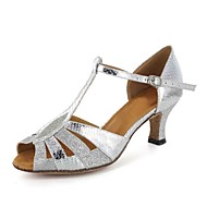Customized Women's Leather T-Strap Latin / Ballroom Dance Shoes(More Colors)