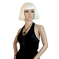 Capless High Quality Synthetic Short Straight White Hair Wigs