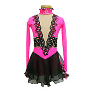 Ice Skating Dress Women's Long Sleeve Skating Skirts & Dresses / Dresses High Elasticity Figure Skating DressBreathable / Wearable /