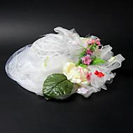 סאטן / תחרה יפה עם חתונה / Partying / כובע ירח דבש בקיה פרח / פרה