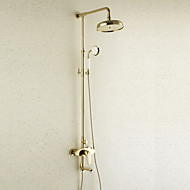 Shower Faucet Antique Rain Shower / Handshower Included Brass Ti-PVD