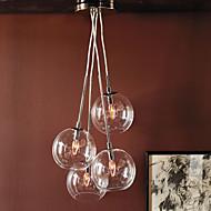60W Kunstnerisk Moderne vedhæng med 4 Lights i Glass Bubble Design