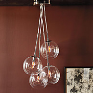 60W artistisk pendantlampe med 4 lys i glassbobledesign