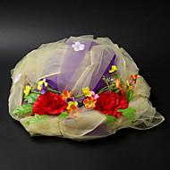 Charming Satin / Lace kukka / lehmä Vetch Häät / Biletys / Häämatka Hat