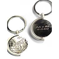 Personlig Nyckelring - Globes (Set av 4)