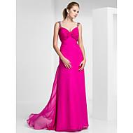 Sheath/Column Sweetheart Floor-length Chiffon Evening/Prom Dress