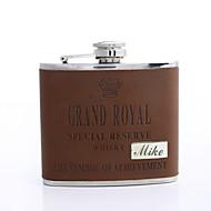 Gepersonaliseerde Gift Brown 5oz PU Lederen Flask