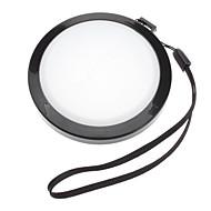 MENNON 72mm מצלמת כיסוי עדשת איזון לבן קאפ עם רצועת יד (שחור ולבן)