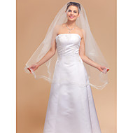 Wedding Veil One-tier Fingertip Veils 98.43 in (250cm) Tulle Ivory A-line, Ball Gown, Princess, Sheath/ Column, Trumpet/ Mermaid