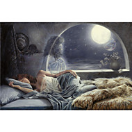 Stretched Canvas Art People Night Voyage by Lucie Bilodeau Ready to Hang