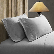 Simple&Opulence® 2-Pack Pillowcase set, 100% Linen Solid Grey