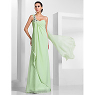 Formal Evening/Prom/Military Ball Dress - Sage Plus Sizes Sheath/Column One Shoulder/Sweetheart Floor-length/Watteau Train Chiffon