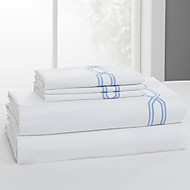 "Simple&Opulence® Fitted sheet, 300 TC 100% Cotton Solid White Up to 15"" Deep"