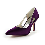 Women's Spring Summer Fall Winter Satin Stretch Satin Wedding Stiletto Heel Hollow-outBlack Blue Pink Purple Red Ivory White Silver Gold