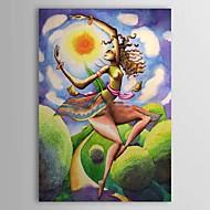 Hånd-malede Abstrakt / Mennesker Et Panel Canvas Hang-Painted Oliemaleri For Hjem Dekoration