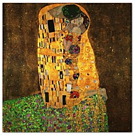 The Kiss by Gustav Klimt Famous Art Print
