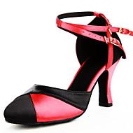 Femininos personalizados cetim superior latino / Ballroom Dance Shoes