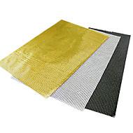 Black / White / Yellow Aluminum Rectangular Placemats