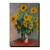 Sunflowers by Claude Monet Famous Stretched Canvas Print