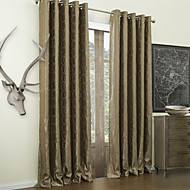 One Pair  Jacquard Round Modern Energy Saving Curtain
