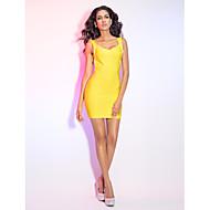 Cocktail Party / Holiday Dress - Petite Sheath/Column V-neck / Straps Short/Mini Rayon