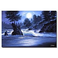 Printed Canvas Art Midnight Magic by Jon Rattenbury with Strethed Frame