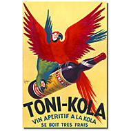 Impreso Canvas Imágenes antiguas de Toni-Kola por Vintage Posters marco estirado