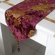 European Style Glimmar Velour Cut Table Runner