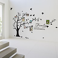 Photo Frame Wall Stickers Flowers Life Tree Botanical Washable Wall Decals