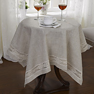 Beige Lin Carré Nappes de table