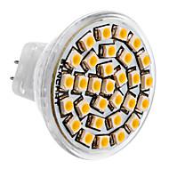 MR11 1.5W 30x3528SMD 150-180LM 3000-3500K lumière blanche chaude Ampoule LED Spot (12V DC)