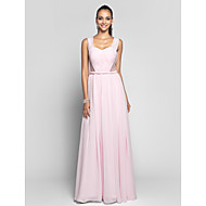 Formal Evening/Prom/Military Ball Dress - Blushing Pink Plus Sizes Sheath/Column Sweetheart/Straps Floor-length Chiffon/Tulle