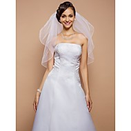 Wedding Veil Two-tier Elbow Veils Pencil Edge 31.5 in (80cm) Tulle White A-line, Ball Gown, Princess, Sheath/ Column, Trumpet/ Mermaid