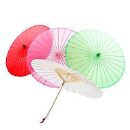Solid Color Cotton paraply med dusker (flere farger)