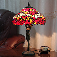 60W Färgglada Pretty Bordslampa mönstrad med röda löv-Goddess Body Pole