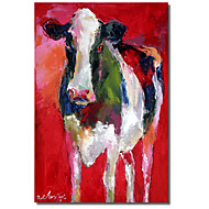 Stretched Canvas Art Animal Cow I by Richard Wallich