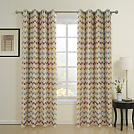 Country Two Panels Polka Dots Multi-color Dining Room Poly  Cotton Blend Curtains Drapes