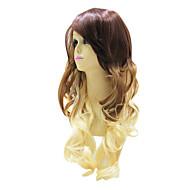 Fabulous Aika Mixed väri pitkä aaltoileva High Quality Korkiton Wig