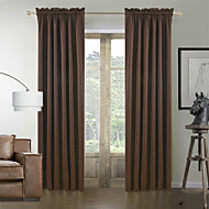 TWOPAGES® Two Panels  Classic Solid Brown Energy Saving Curtains Drapes