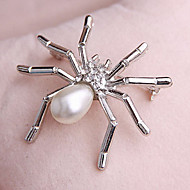 Women's  Spider Pearl Brooch