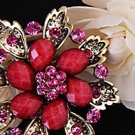 Luxe bloem broche (willekeurige kleur)