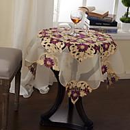 Vert / Violet Polyester Carré Nappes de table