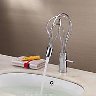 färgskiftande ledde badrum handfat kran - krom