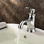 klassiske messing håndvasken vandhane - krom