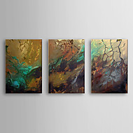 Hand Painted Oil Painting Abstract with Stretched Frame Set of 3 1308-AB0597